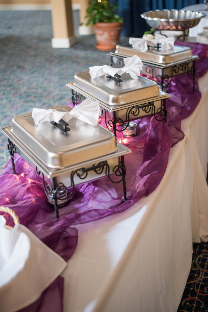 Our Atrium can be set to single or double sided buffets