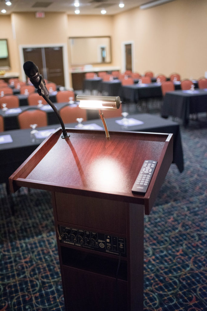 Training classes are also easily accommodated and with our A/V system your presentations are no issue.