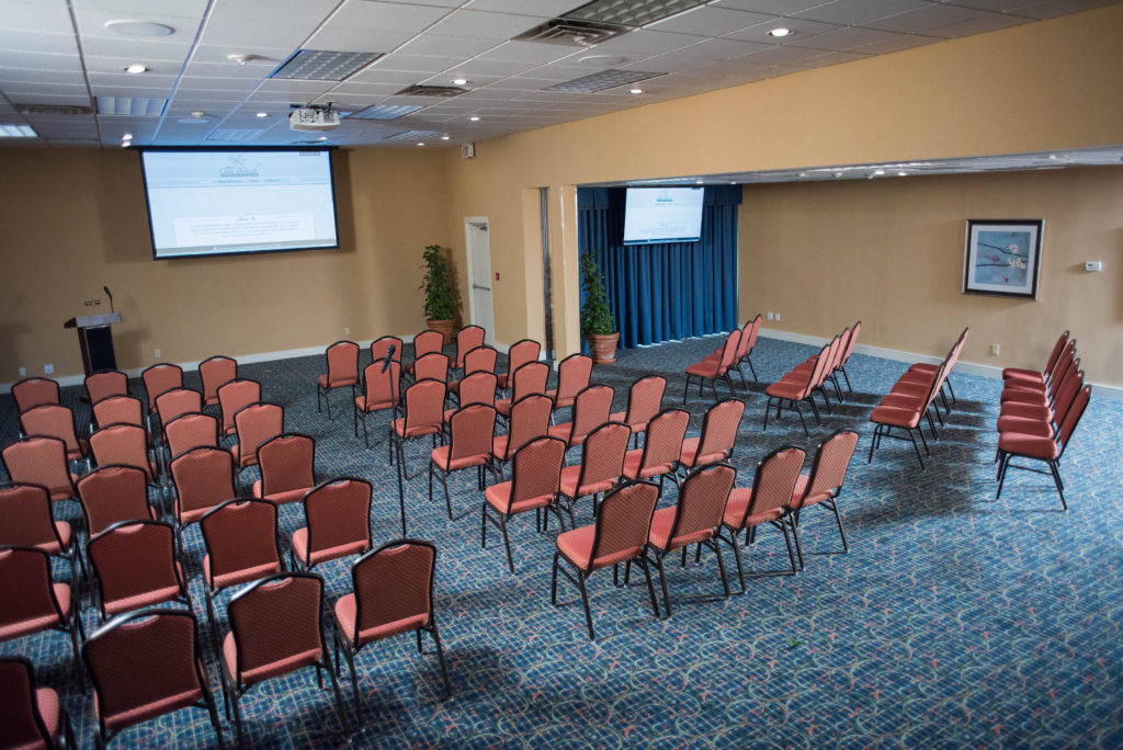 With up to 250 seated capacity, we can host large corporate updates